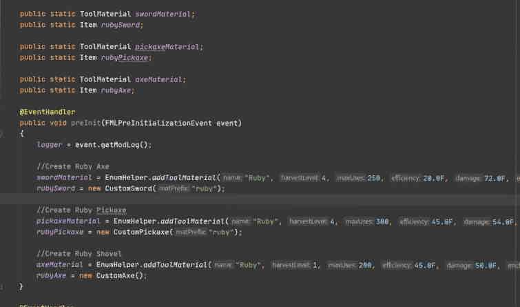 Sample Java code